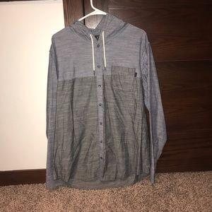 Oakley Hooded Button Down Shirt